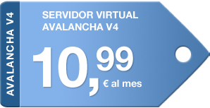 Servidor Virtual Avalancha 10,99€ al mes