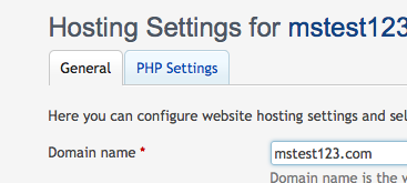 php settings plesk